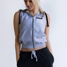 women s gun smuggler gym hoo sleeveless grey