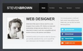 Resume Website Example 15 Best Html Resume Templates For Awesome