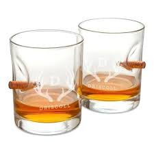 personalized whiskey glasses set of 2 glass bulletproof monogrammed crystal