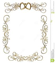 Party Borders For Invitations Wedding Or Party Invitation Gold Border Stock Illustration