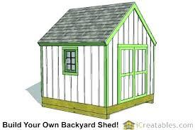 10x10 storage shed cost free plans pdf 10x10 storage shed