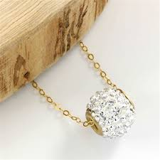 14kt yellow gold 1 25 ct white cubic zirconia pendant necklace 45
