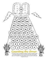 Chart For Counting The Omer Counting The Omer Calendar Kids Calendar Learn Hebrew