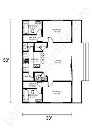 barndominium floor plans with 2 master