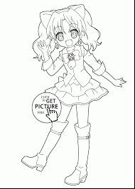 Small Picture incredible anime girl coloring pages to print with anime girl