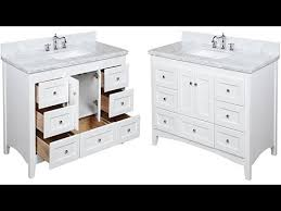 48 inch bathroom vanity with white marble top