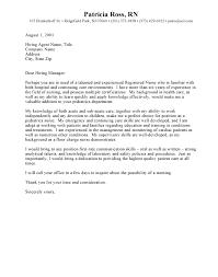 Resume Cover Letter Examples For Nurses Eursto Com