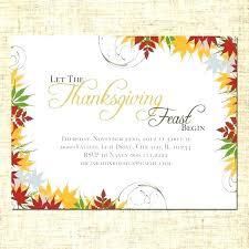 Blank Thanksgiving Invitations Its Tech Co