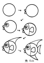 fish drawing easy. Simple Fish Vis Tekenen Met Kleuters Cartoon Drawings Fish Art  Animal To Drawing Easy D