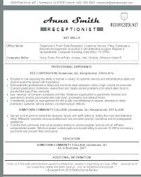 front desk cal receptionist resume sample dental office examples o res
