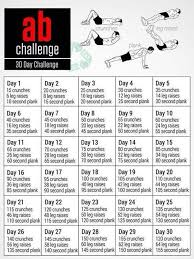 Ab Challenge 30 Day 30 Day Fitness 30 Day Ab Challenge