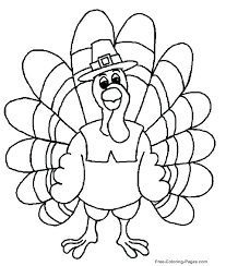 Thanksgiving Turkey Coloring Thanksgiving Turkey Coloring Page Happy