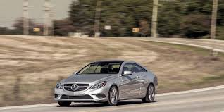 Amply powered, stylish, and technologically current. 2014 Mercedes Benz E350 4matic Coupe Tested Autobahn Elegance