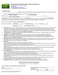 Lawn Care Agreement Template Clean Lawn Mowing Contract