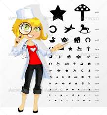 Child Eye Test Chart Eye And Snellen Graphics Designs Templates From Graphicriver