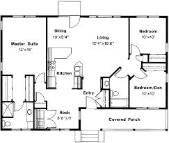 Free Flowing House Plan   DA   st Floor Master Suite  CAD    Floor Plan