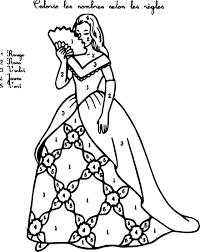 Coloriage Magique Princesse Imprimer