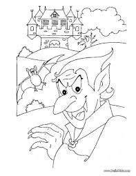 Small Picture Dracula and his haunted castle coloring pages Hellokidscom