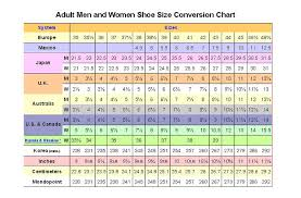 Womens Slipper Size Chart 46 Unexpected The Shoe Size Chart