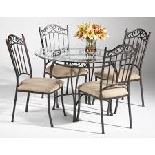 Shop Somette Round Wrought Iron Glass Top Dining Table Free