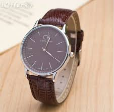 fashion leather watch women men s brand ck watches for