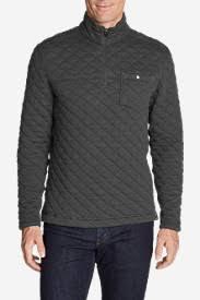 Quilted Sweaters & Sweatshirts for Men | Eddie Bauer & Men's Fortify Quilted 1/4-Zip Pullover Adamdwight.com