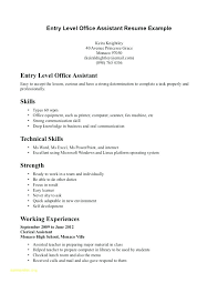 Entry Level Office Assistant Resumes Entry Level Medical Assistant Resume Examples Mmventures Co