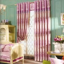 Elegant Luxus Chenille Blumen Rosa Schlafzimmer Gardinen Wohnzimmer