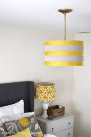 diy drum pendant shade with ribbon dorsey designs brass dining room drum pendant light kit