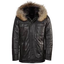 lambskin leather and sheepskin lined jacket brown kiruna
