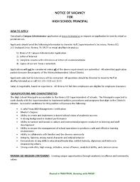 Notice of Vacancy For High School Principal - Riviera Indep...