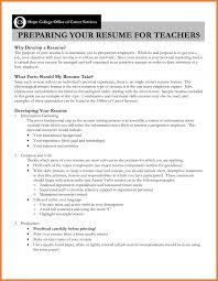 Teaching Resume Teacher Resume Objective Sop Proposal 10
