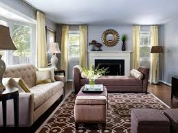 Transitional Living Room Design Living Room Gray Chairs White Flooring Lamp Television Stunning