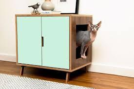 Decorative Cat Litter Box Covers Mid Century Modern Cat Litter Box Furniture LARGE Cat Litter Box 9