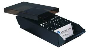 Westcott Business Card File Box 600 Card Capacity Black Connors