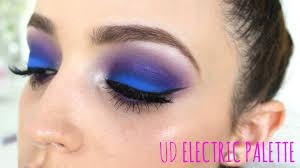 electric blue purple eyes makeup tutorial you