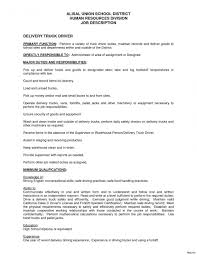 Chicong Haul Truck Driver Job Description Resume For Your Sample Of