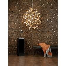 Copper Ribbon Light Rawley 9 Light Circular Ceiling Pendant Wrapped In Twirling Copper Ribbons
