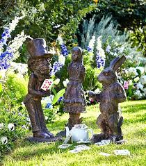 alice in wonderland garden create some whimsy in your garden with these garden ornaments set of