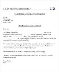 Employee Transfer Letter Pdf Confirmation Of Employment Letter Template Or Salary Transfer Letter