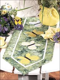 Free Quilt Patterns for Table Runners & Decor - Butterfly Jungle ... & Butterfly Jungle Table Runner Adamdwight.com