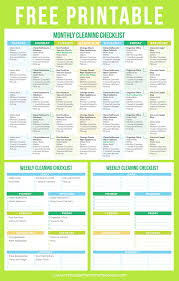 cleaning schedule printable the best free printable cleaning checklists sarah titus