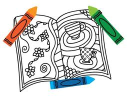 book clipart coloring 3