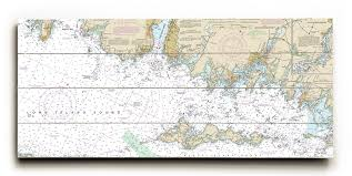 Tide Chart Stonington Ct Ct New London Mystic Stonington Ct Nautical Chart Sign Graphic Art Print On Wood