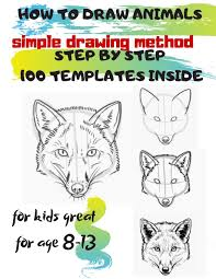 If you want your kid to learn drawing different things and having fun at the same time, this website is perfect fit. Amazon Com How To Draw Animals Simple Drawing Method Step By Step 100 Templates Inside Sketchbook For Kids 100 Drawings Cool Stuff For Kids Great For Age 8 13 9781678504380 Project Universal Books