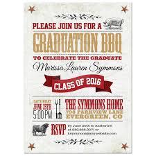 Barbeque Invitation Graduation Barbeque Invitations Bbq Announcement Thematic Wording
