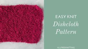 Easy Knit Dishcloth Pattern Mesmerizing How To Knit An Easy Dish Cloth YouTube