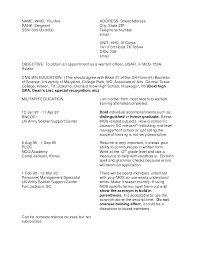 Cover Letter Military Police Resume Military Police Resume Objective
