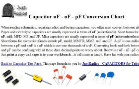 capacitor conversion chart capacitor conversion chart electronics repair and technology news