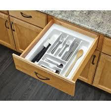 Kitchen Drawer Organizer Shop Rev A Shelf 2125 In X 175 In Plastic Cutlery Insert Drawer